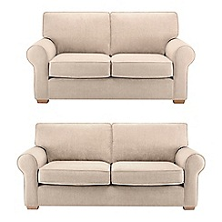Debenhams - Set of large and medium velour 'Charles' sofas