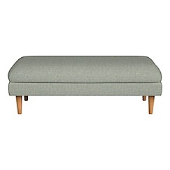 Debenhams - Textured fabric 'Lille' footstool