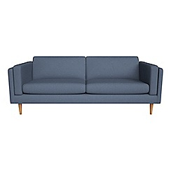Debenhams - 4 seater flat weave fabric 'Lille' sofa