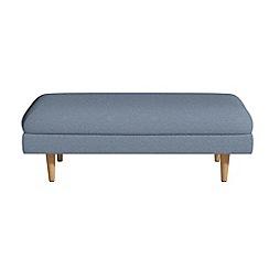 Debenhams - Flat weave fabric 'Lille' footstool