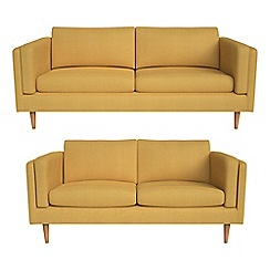 Debenhams - 3 seater and 2 seater tweedy fabric 'Lille' sofas