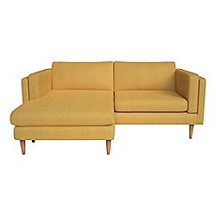 Debenhams - Tweedy fabric 'Lille' chaise corner sofa