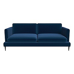 J by Jasper Conran - 3 seater velvet 'Ellsworth' sofa