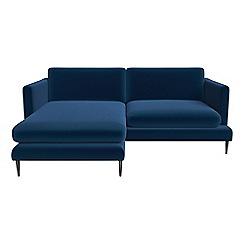 J by Jasper Conran - Velvet 'Ellsworth' chaise corner sofa