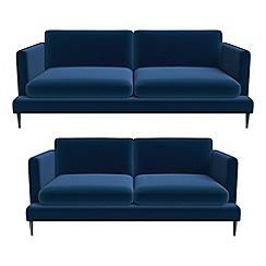 J by Jasper Conran - 3 seater and 2 seater velvet 'Ellsworth' sofas