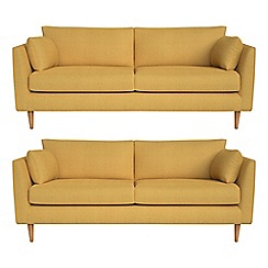 RJR.John Rocha - Set of two 3 seater tweedy weave 'Ravello' sofas