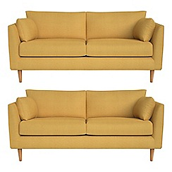 RJR.John Rocha - Set of two 2 seater tweedy weave 'Ravello' sofas