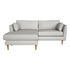 RJR.John Rocha - Flat weave fabric 'Ravello' chaise corner sofa