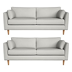 RJR.John Rocha - Set of two 3 seater flat weave fabric 'Ravello' sofas