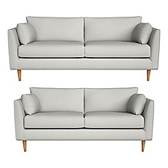 RJR.John Rocha - 3 seater and 2 seater flat weave fabric 'Ravello' sofas
