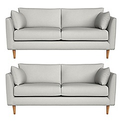 RJR.John Rocha - Set of two 2 seater flat weave fabric 'Ravello' sofas