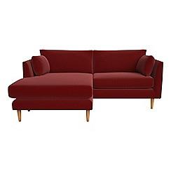 RJR.John Rocha - Velvet 'Ravello' chaise corner sofa