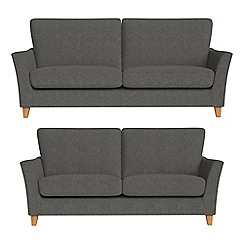 Debenhams - 3 seater and 2 seater tweedy weave 'Abbeville' sofas