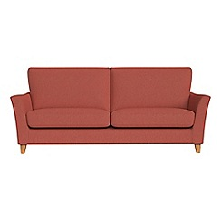 Debenhams - 4 seater flat weave fabric 'Abbeville' sofa