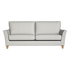 Debenhams - 4 seater flat weave fabric 'Abbeville' sofa
