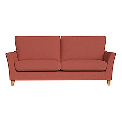 Debenhams - 3 seater flat weave fabric 'Abbeville' sofa