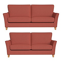 Debenhams - 3 seater and 2 seater flat weave fabric 'Abbeville' sofas