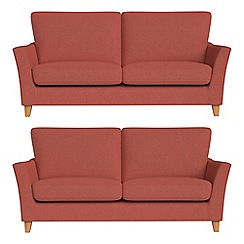 Debenhams - Set of two 2 seater flat weave fabric 'Abbeville' sofas