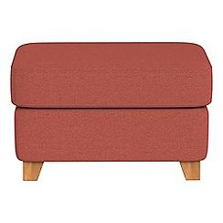 Debenhams - Flat weave fabric 'Abbeville' footstool