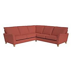 Debenhams - Flat weave fabric 'Abbeville' corner sofa