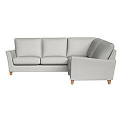 Debenhams - Flat weave fabric 'Abbeville' right-hand facing corner sofa end
