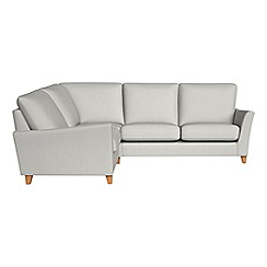 Debenhams - Flat weave fabric 'Abbeville' left-hand facing corner sofa end