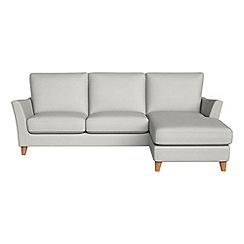Debenhams - Flat weave fabric 'Abbeville' right-hand facing chaise corner sofa