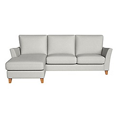 Debenhams - Flat weave fabric 'Abbeville' left-hand facing chaise corner sofa