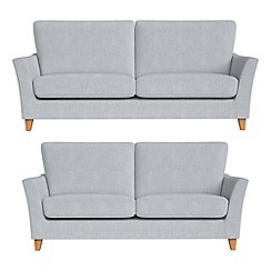 Debenhams - 3 seater and 2 seater brushed cotton 'Abbeville' sofas