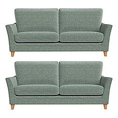 Debenhams - Set of two 3 seater chenille 'Abbeville' sofas