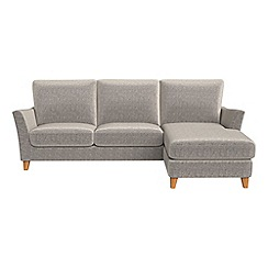 Debenhams - Chenille 'Abbeville' right-hand facing chaise corner sofa