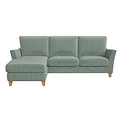 Debenhams - Chenille 'Abbeville' left-hand facing chaise corner sofa