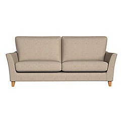 Debenhams - 3 seater textured weave 'Abbeville' sofa