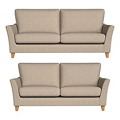 Debenhams - 3 seater and 2 seater textured weave 'Abbeville' sofas