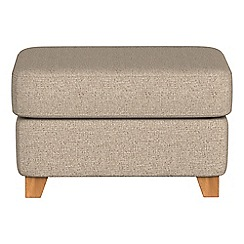 Debenhams - Textured fabric 'Abbeville' footstool