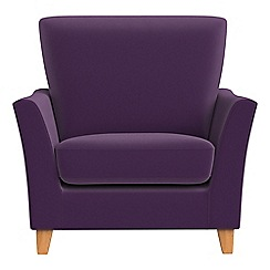 Debenhams - Velvet 'Abbeville' armchair