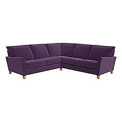 Debenhams - Velvet 'Abbeville' corner sofa