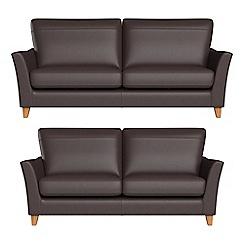 Debenhams - 3 seater and 2 seater luxury leather 'Abbeville' sofas