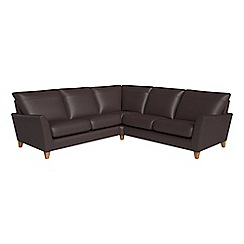 Debenhams - Luxury leather 'Abbeville' corner sofa