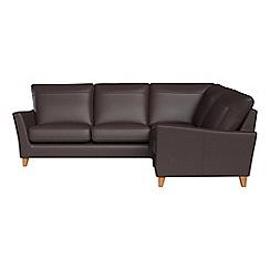 Debenhams - Luxury leather 'Abbeville' right-hand facing corner sofa end