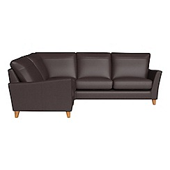 Debenhams - Luxury leather 'Abbeville' left-hand facing corner sofa end