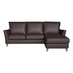 Debenhams - Luxury leather 'Abbeville' right-hand facing chaise corner sofa