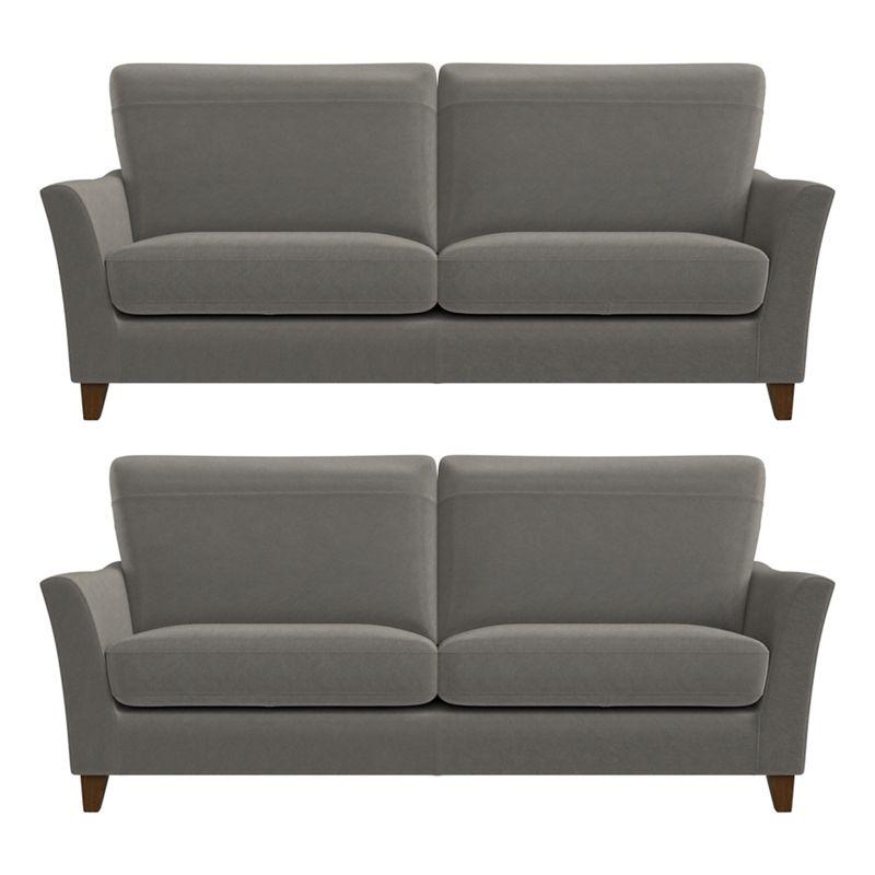 Debenhams Set of two 3 seater natural grain leather 'Abbeville' sofas