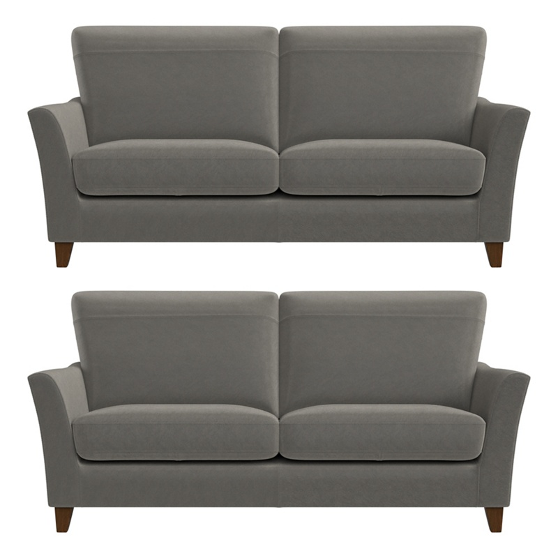 Debenhams Set of two 2 seater natural grain leather 'Abbeville' sofas