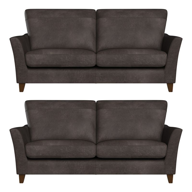 Debenhams Set of two 2 seater natural grain leather 'Abbeville' sofas