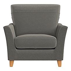 Debenhams - Natural grain leather 'Abbeville' armchair