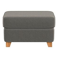 Debenhams - Natural grain leather 'Abbeville' footstool