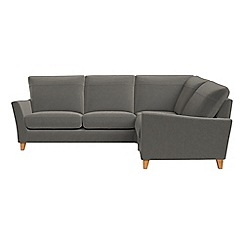 Debenhams - Natural grain leather 'Abbeville' right-hand facing corner sofa end