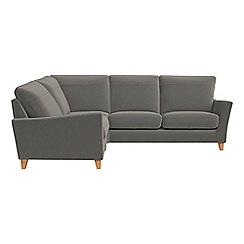 Debenhams - Natural grain leather 'Abbeville' left-hand facing corner sofa end