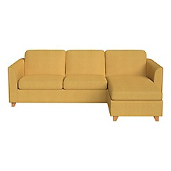 Debenhams - Tweedy weave 'Carnaby' right-hand facing chaise corner sofa bed